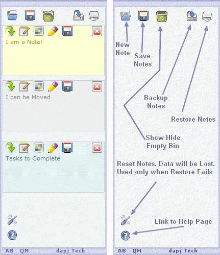 Pin Note Web Gadget